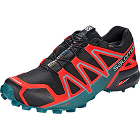 Salomon Speedcross 4 GTX Schoenen Heren, black/high risk red/mediterranea